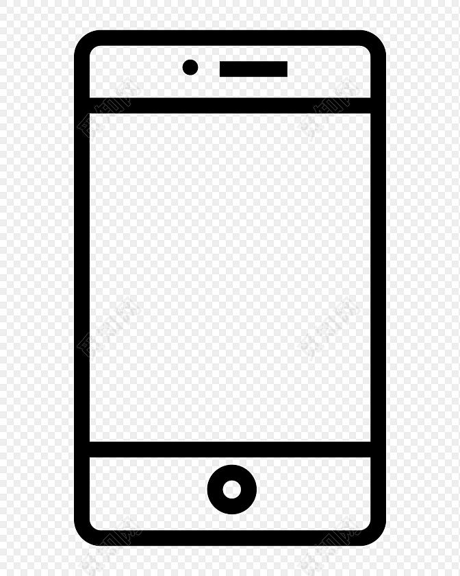 简约线条手机图标矢量素材