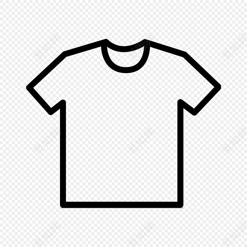 简约线条t恤图标矢量素材