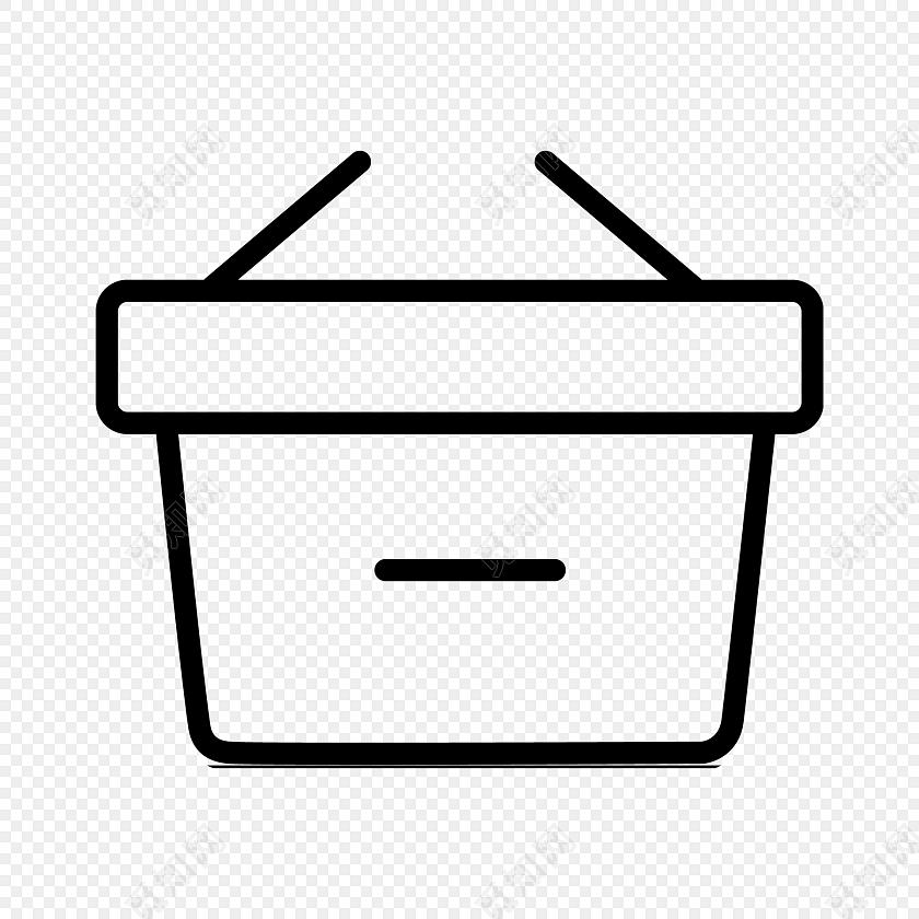 简约线条垃圾桶图标矢量素材