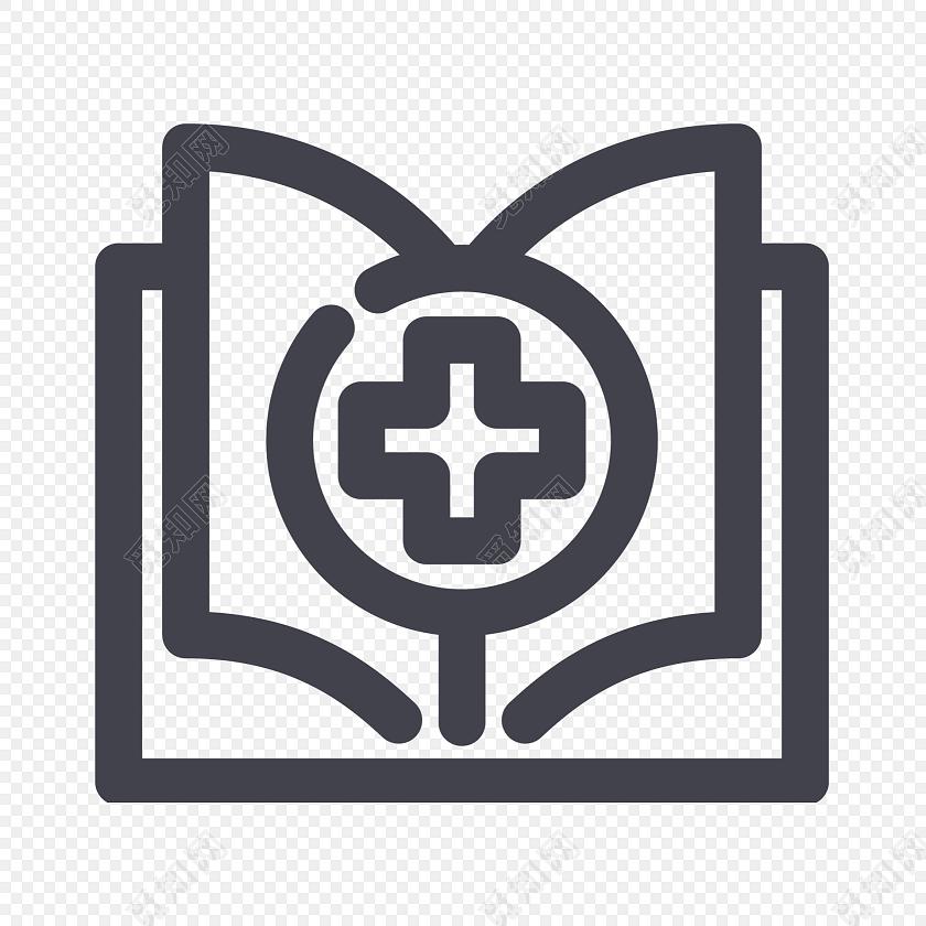 医疗书本矢量图素材