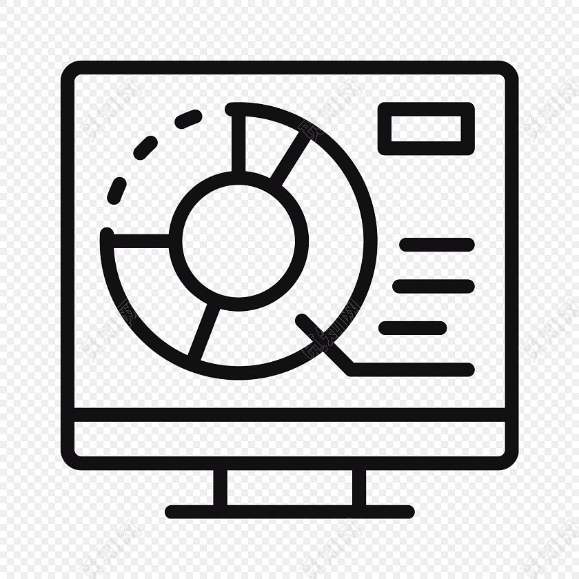 简约线条电脑系统图标