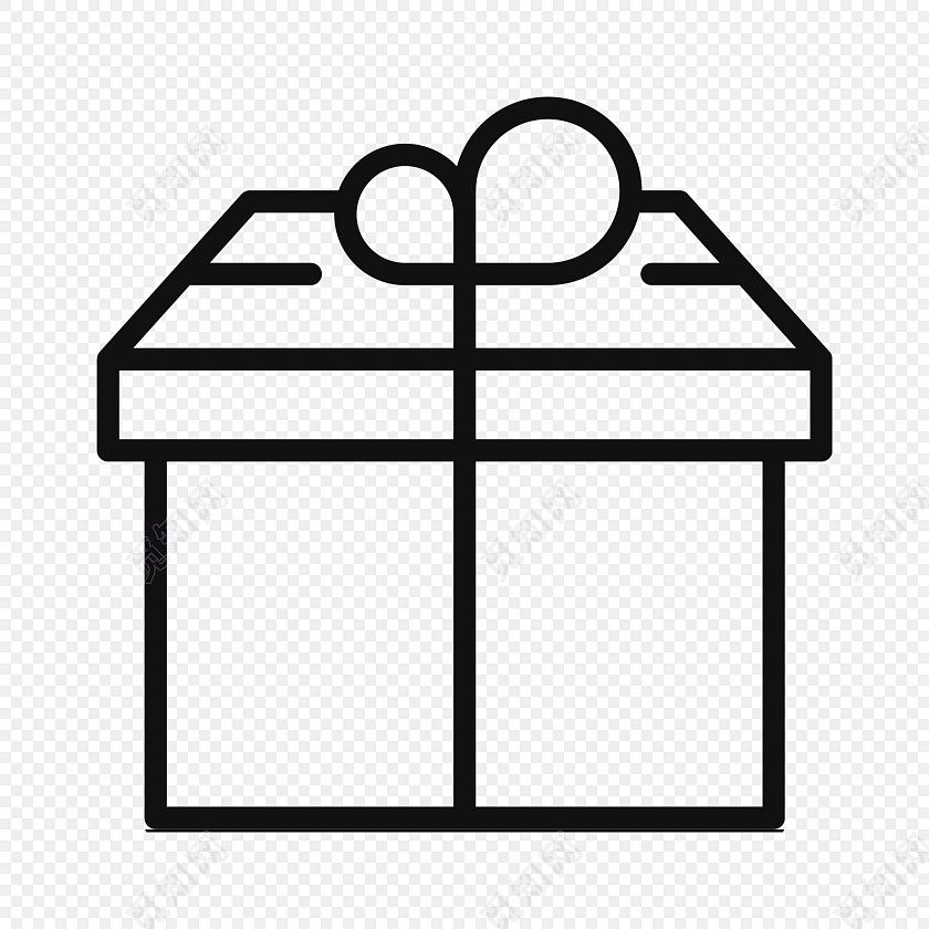 黑色礼盒简笔画图标图片素材免费下载 觅知网