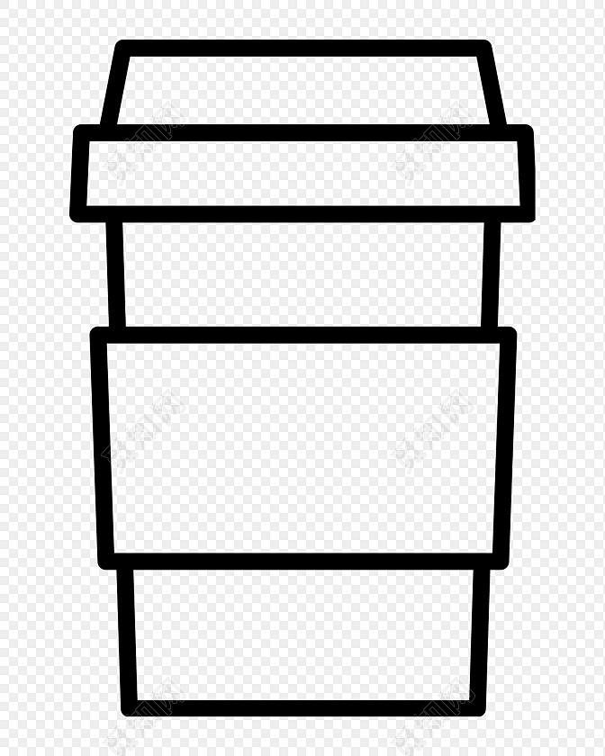 黑色手绘奶茶杯图标