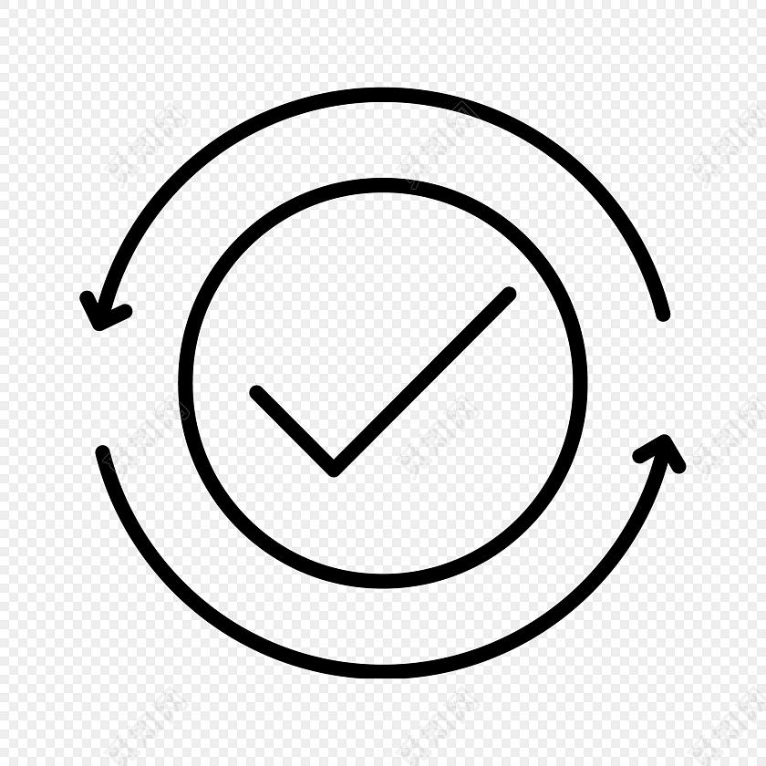 黑色圆圈对勾图标