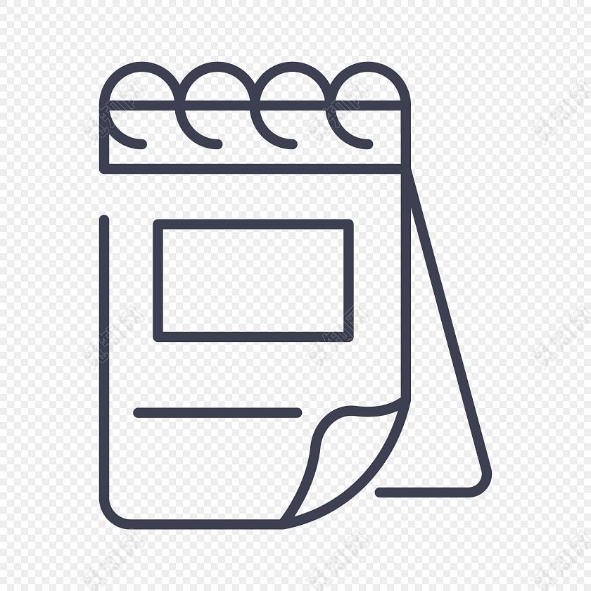 黑白记事本商务图标免费下载_png素材_觅知网