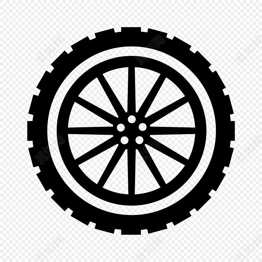 手绘卡通汽车轮胎素材图片