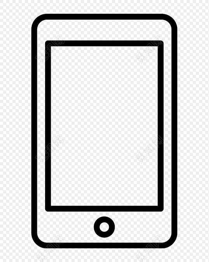 黑色线条手机图标素材