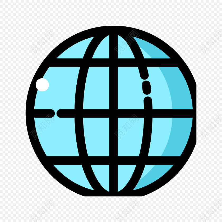 卡通彩色简笔画地球标签素材
