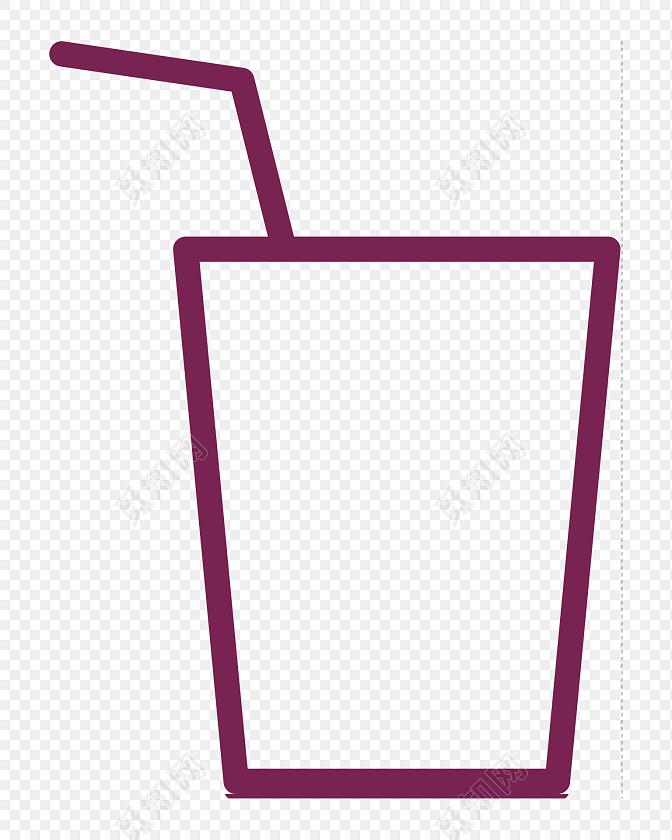 卡通饮料简笔画设计素材图片