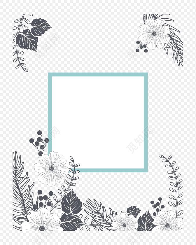 手绘婚礼海报背景素材