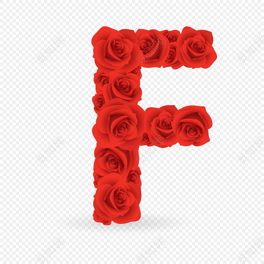 f英文字母矢量素材