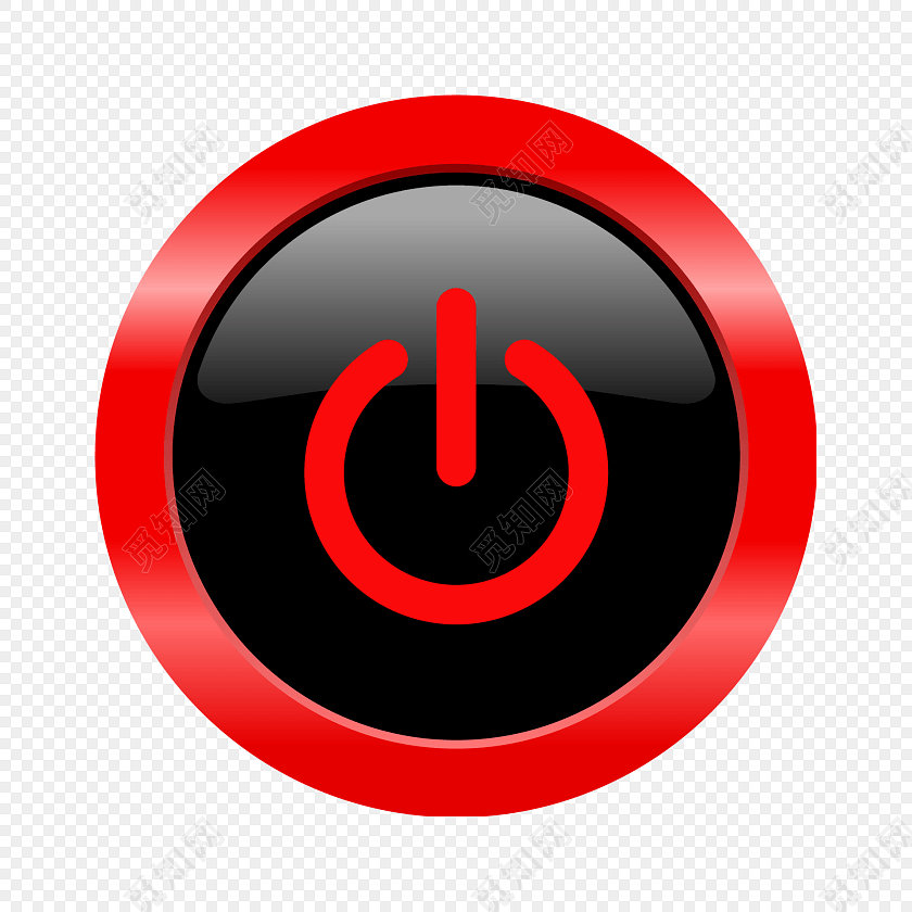 红色简约音乐播放器开关按钮图片素材免费下载_觅知网