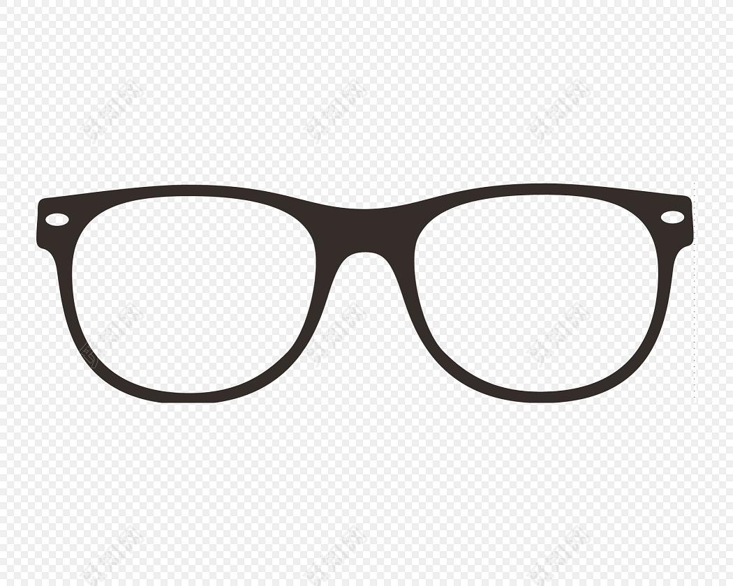 黑色学生用品眼镜框架矢量素材