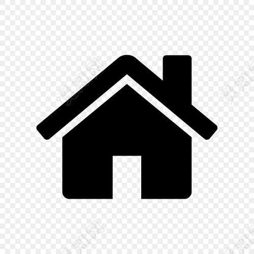 黑色小房子标志手绘素材