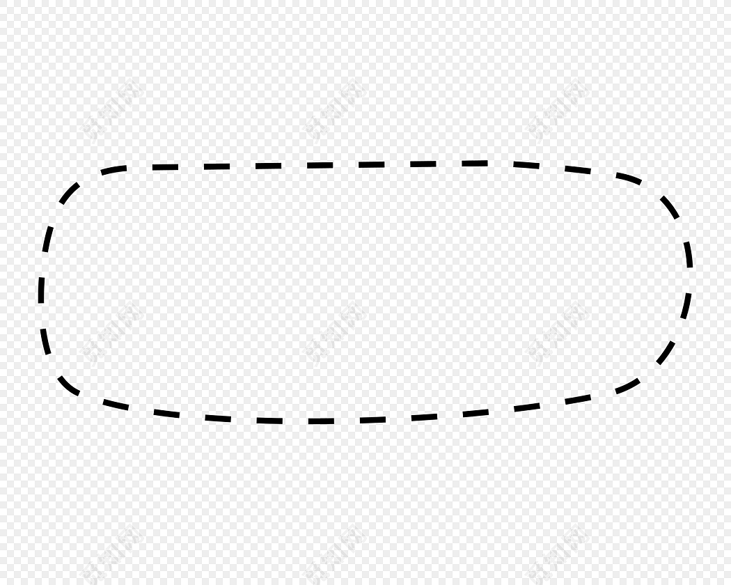 虚线对话框虚线边框免费下载_png素材_觅知网