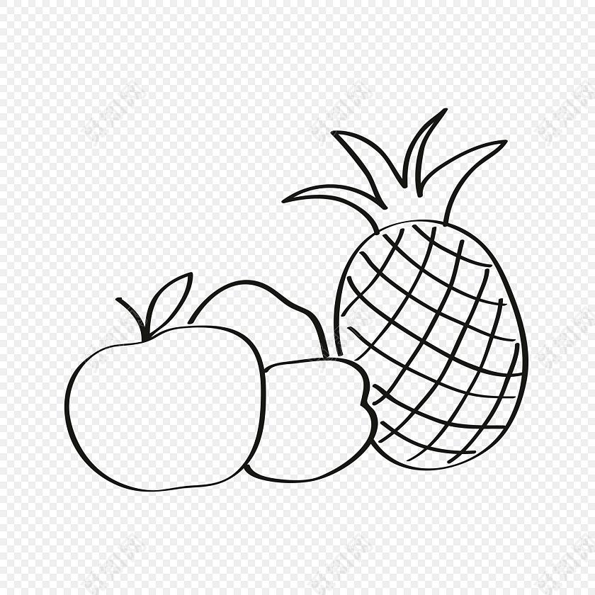 菠萝图片大全简笔画