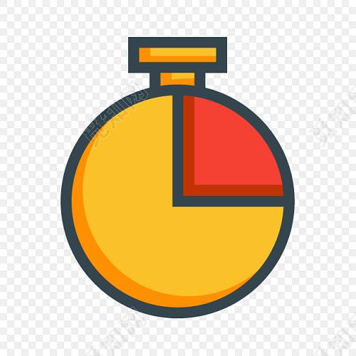 彩色卡通计时器扁平图标素材