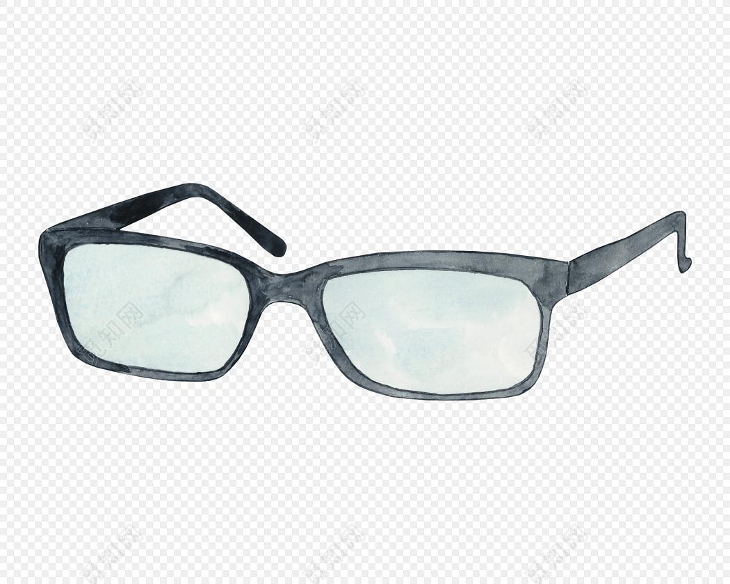 黑色简约眼镜图片下载素材