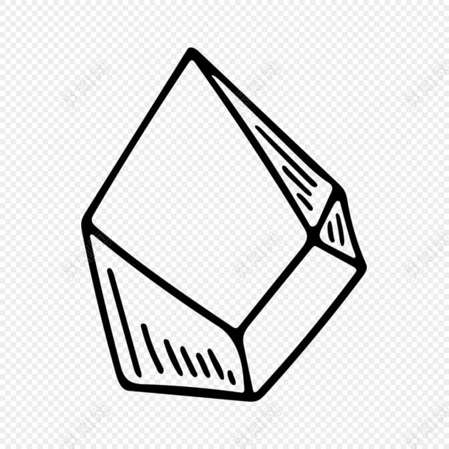 不规则几何图形简笔画矢量素材