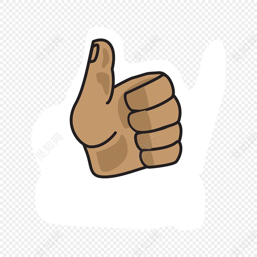 大拇指点赞白底标签图片素材免费下载_觅知网
