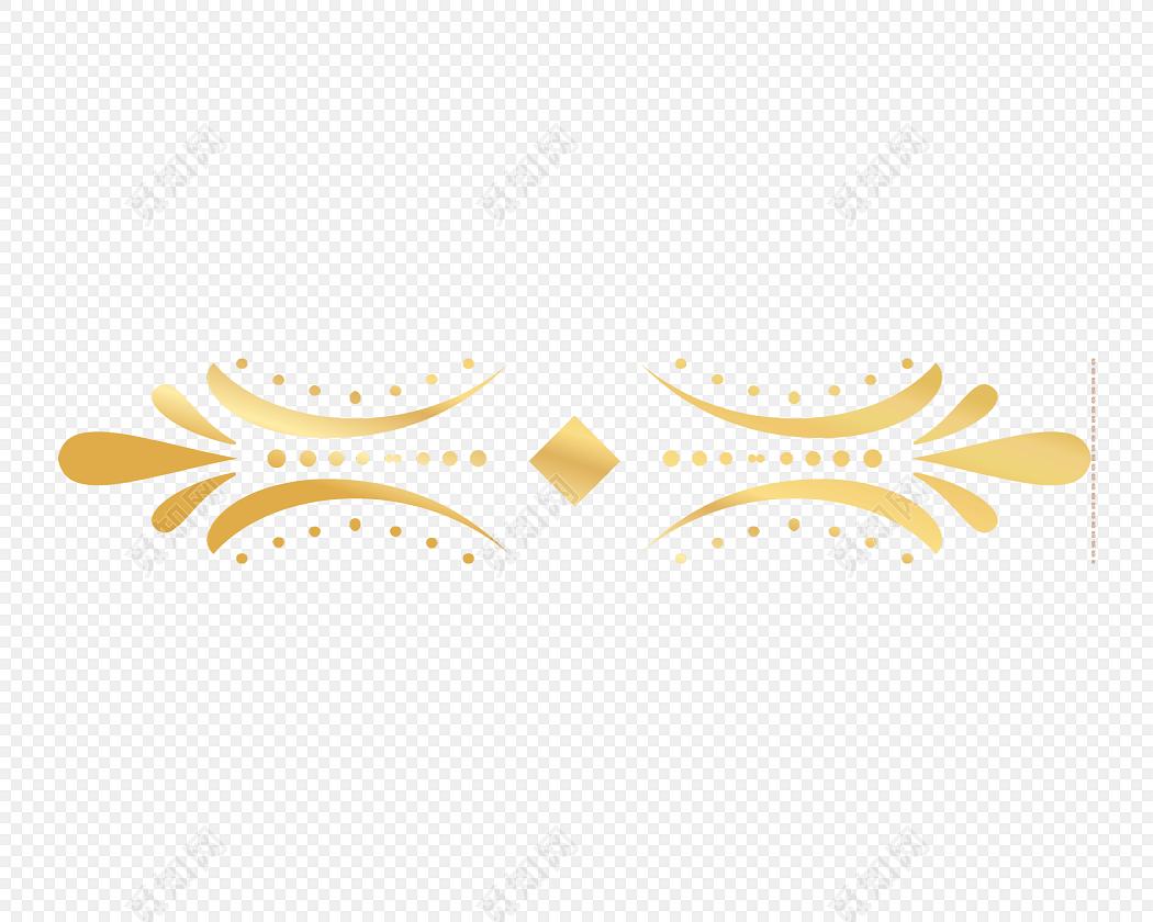 金属卡通花纹标签装饰素材