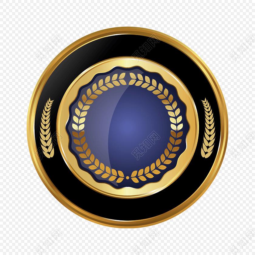 金属卡通奖章标签装饰素材