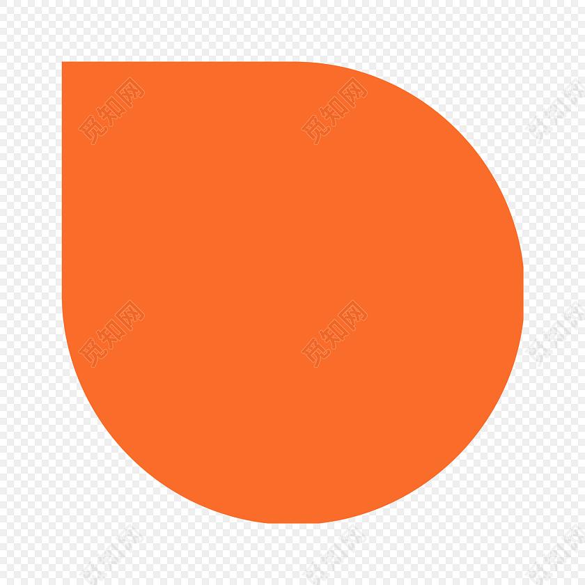 卡通手绘橙色气泡矢量图免费下载_png素材_觅知网