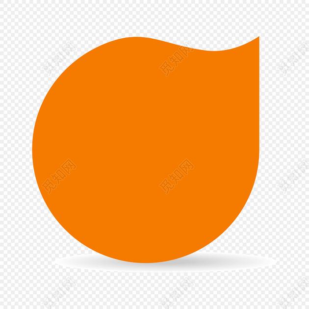 彩色橙色卡通气泡矢量图图片素材免费下载_觅知网