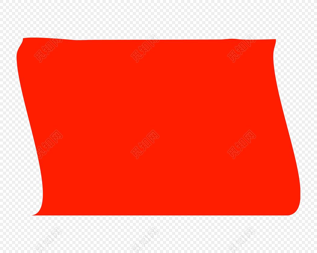 红色对话框不规则图形免费下载_png素材_觅知网
