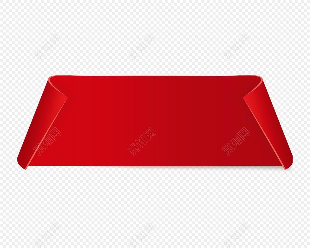 红色横幅标签矢量元素图片素材免费下载_觅知网