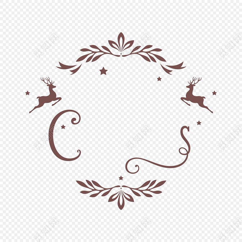 彩色圣诞花纹矢量素材