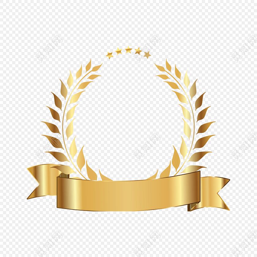 金色麦穗矢量图标