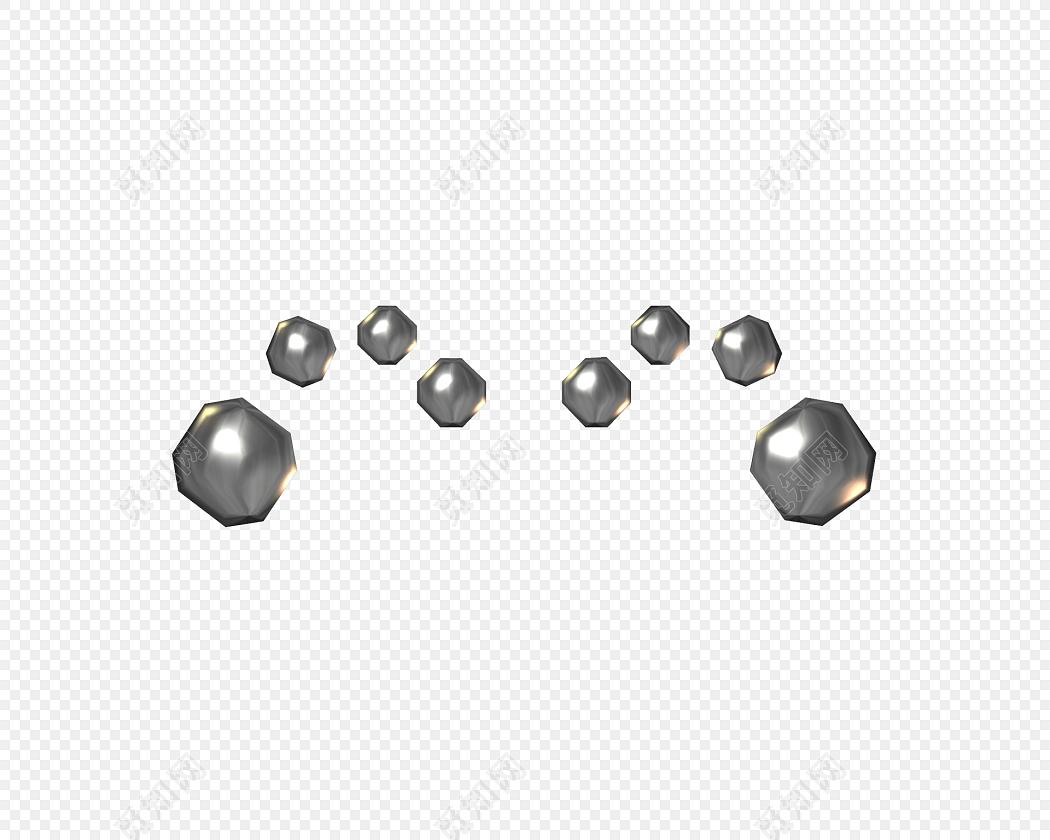金属立体卡通珠宝装饰素材