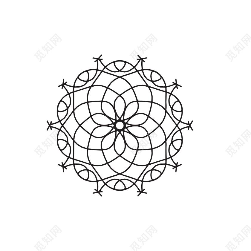简约手绘小花矢量素材