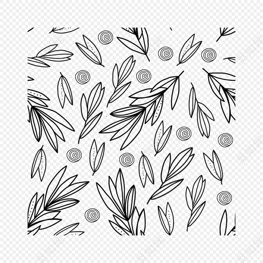 可爱卡通植物底纹矢量素材
