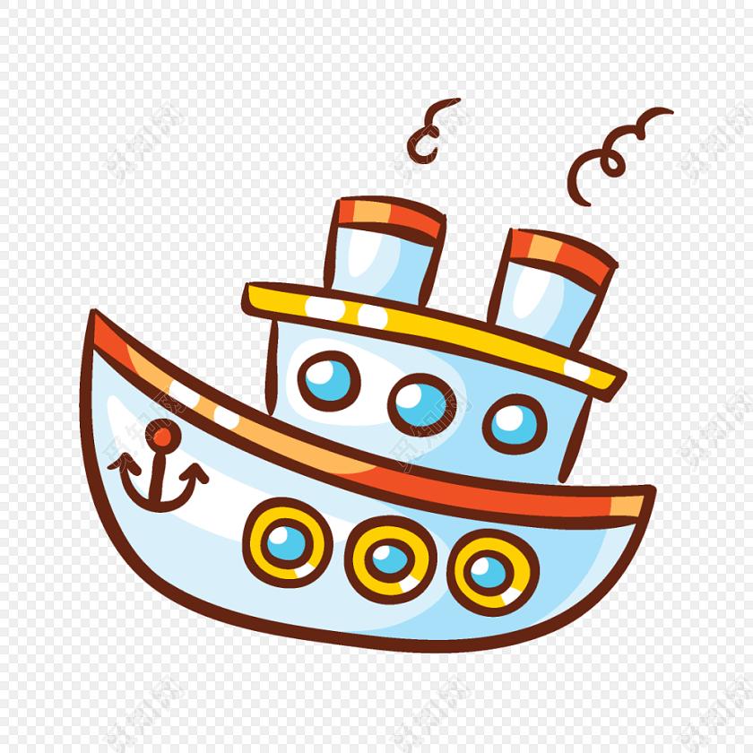 可爱卡通小船矢量素材图片