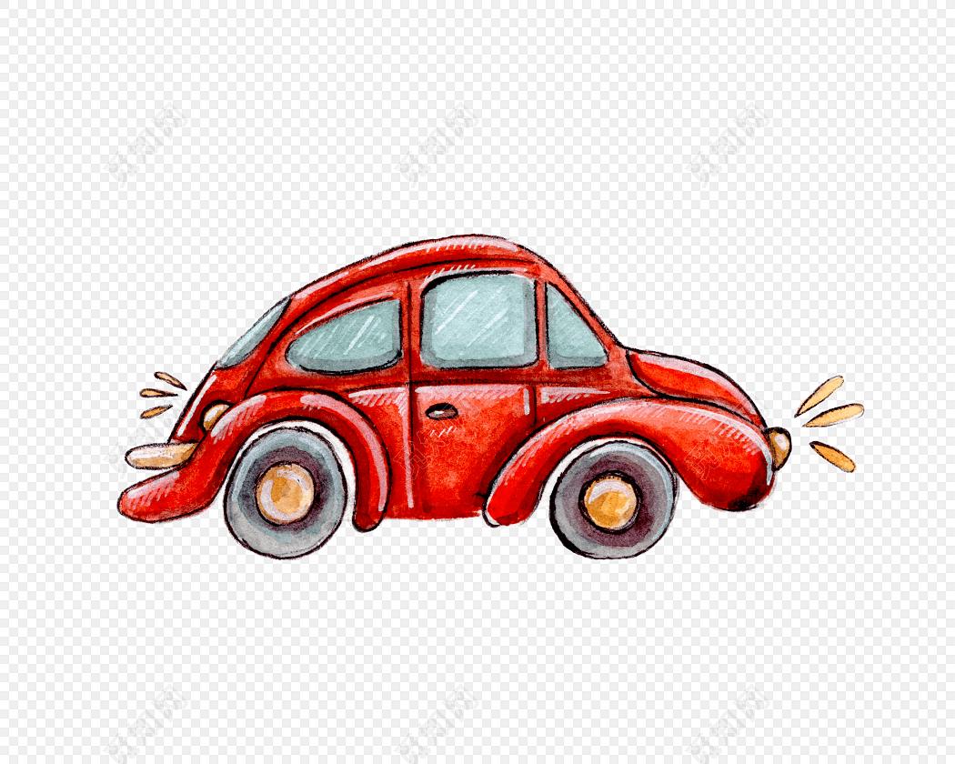手绘彩色汽车素材免费下载_png素材_觅知网