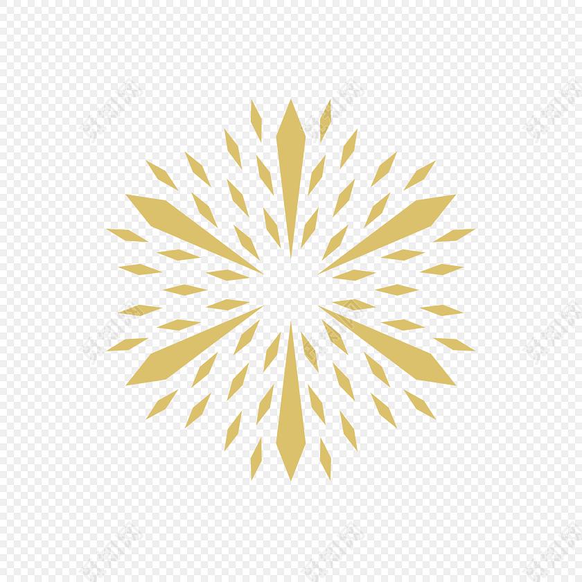金色对称图案矢量图