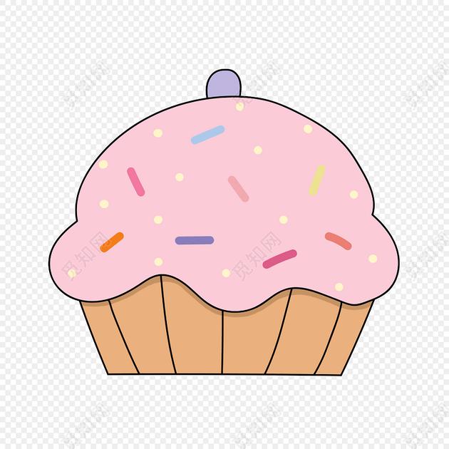手绘美味甜品矢量图