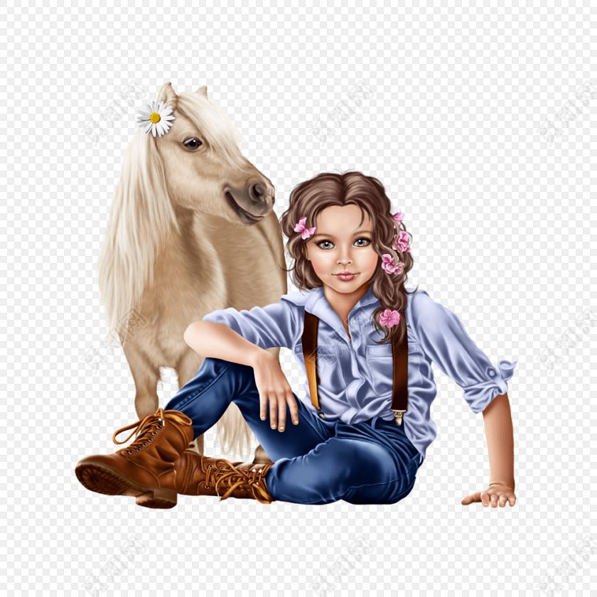 手绘女孩模特矢量图片免费下载_png素材_觅知网