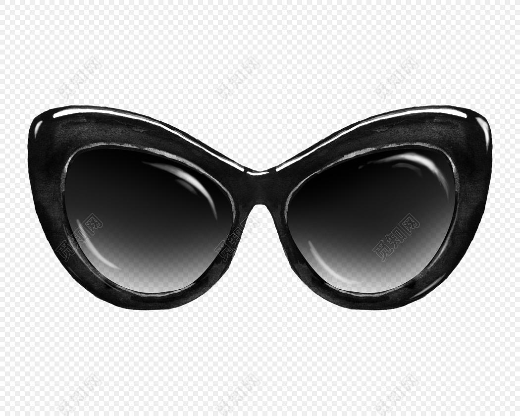 黑色手绘墨镜设计矢量图片免费下载_png素材_觅知网