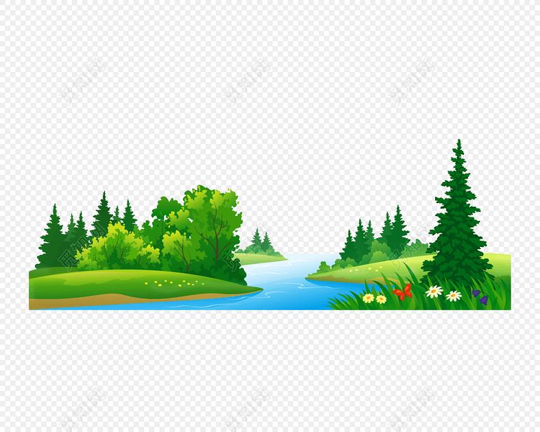 绿色简约自然风景图片下载素材