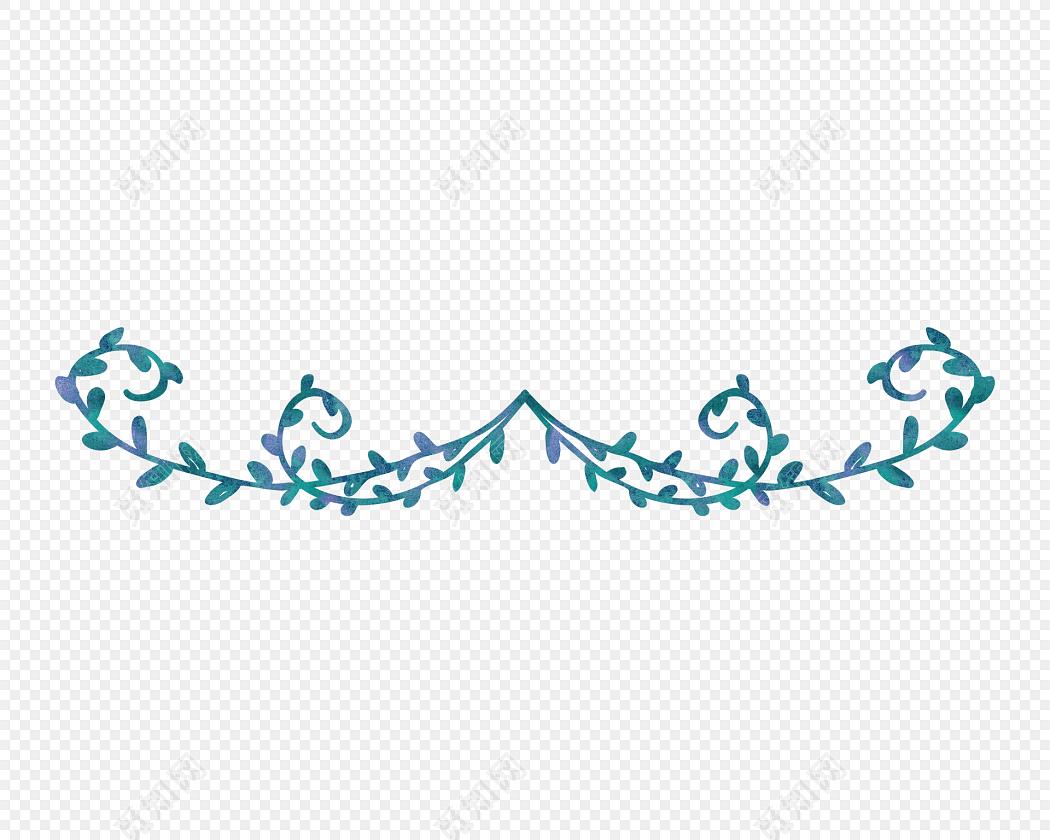 卡通线条简笔画花纹装饰设计