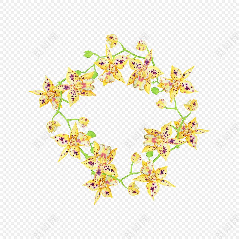 花环涂鸦矢量图素材