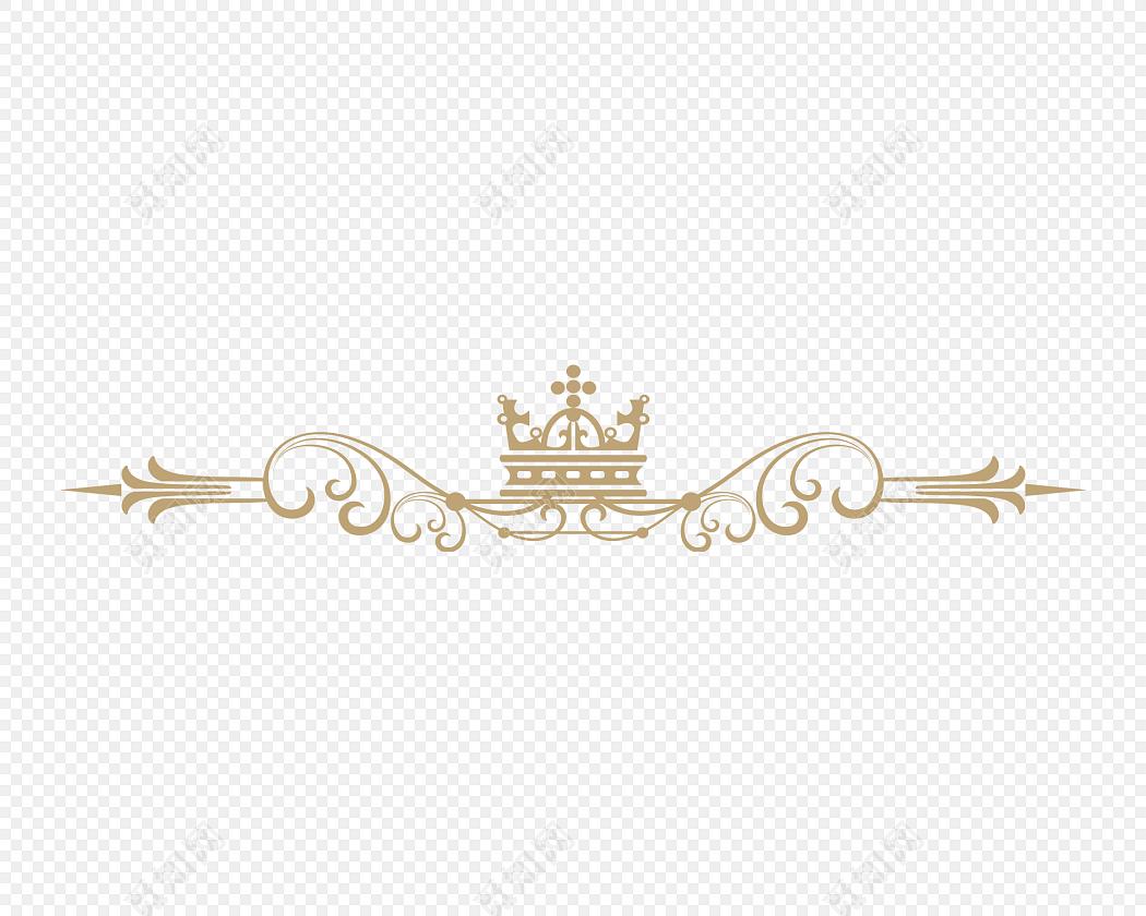 金色欧式花纹分割线边框素材下载