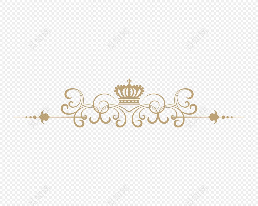 金色花纹分割线边框素材下载