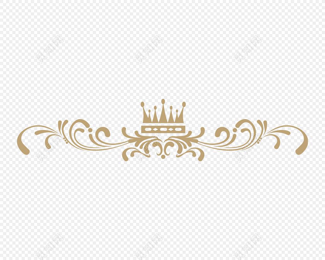 花边边框 免抠素材 矢量素材 简约 金色花纹分割线