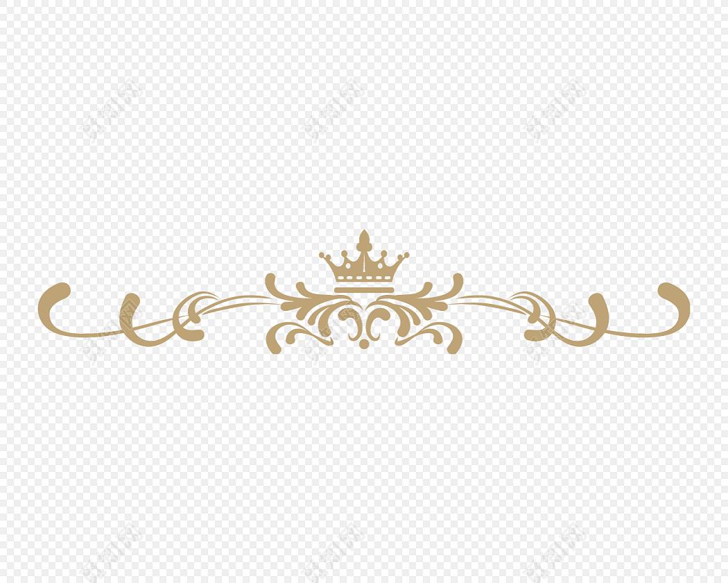 金色欧式花纹分割线矢量图免费下载_png素材_觅知网