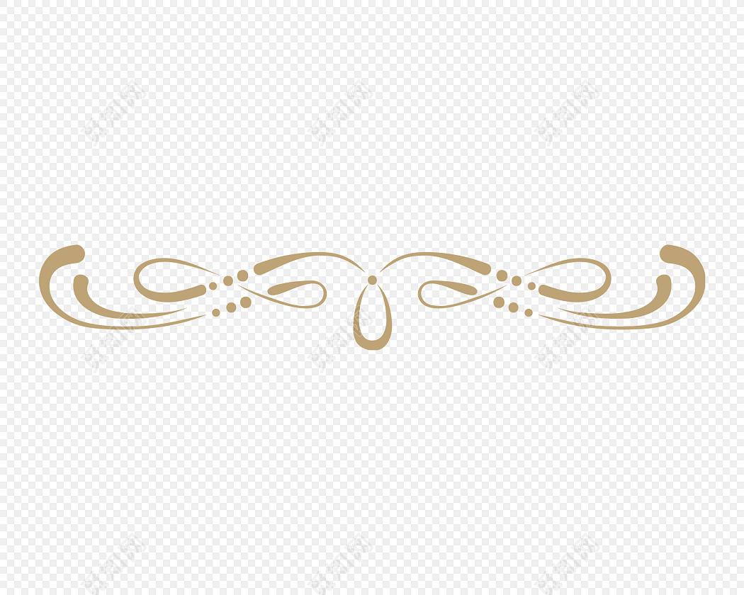 金色欧式花纹分割线矢量图