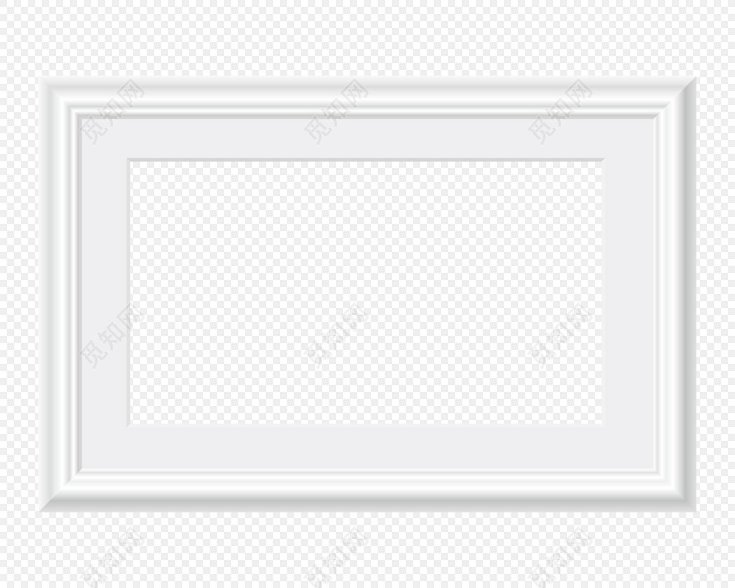 白色简约相框边框素材下载
